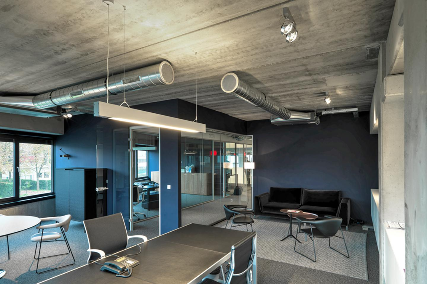 industrial office reception industrial office orbit architectural lighting